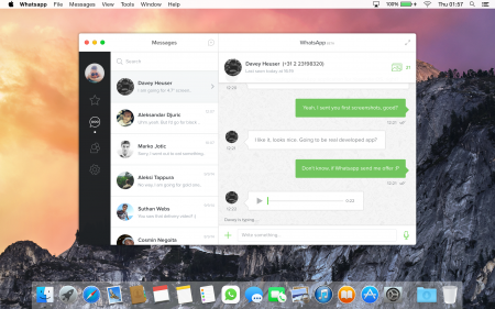 WhatsApp for Mac OS X